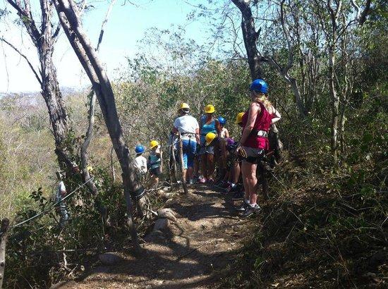 Mazatlan Tours: Waiting our turn for zip lining