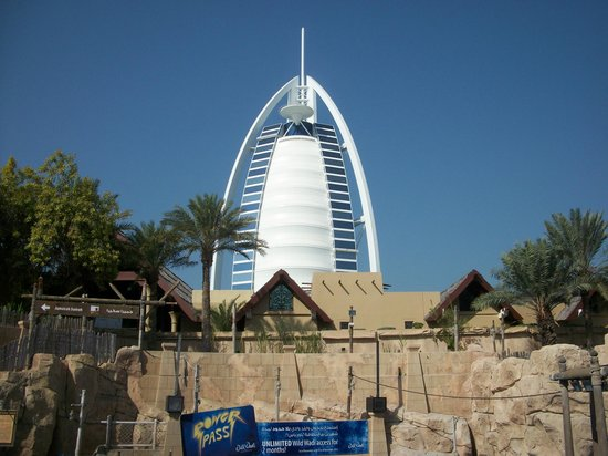 Wild Wadi Water Park: view from the park
