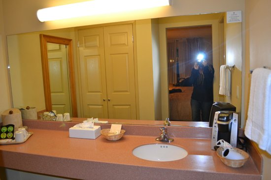 Sandpiper Lodge : Amplio baño compartimentado