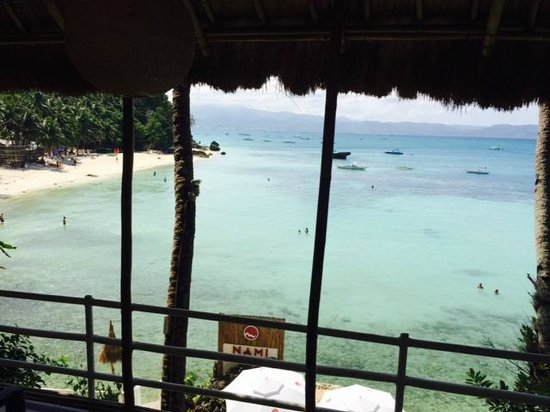 Nami Resort: View from lower level elevator landing.