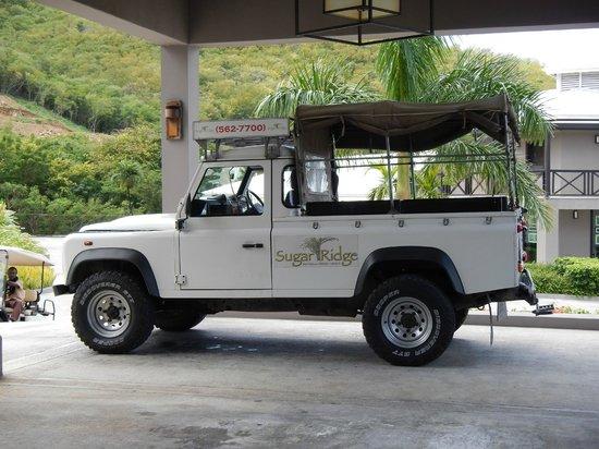 Sugar Ridge: Le Jeep qui nous apporte aux plages