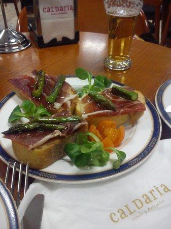 Balneario Laias Caldaria: Pincho para cenar