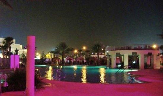 Hard Rock Hotel & Casino Biloxi : Pool at night.