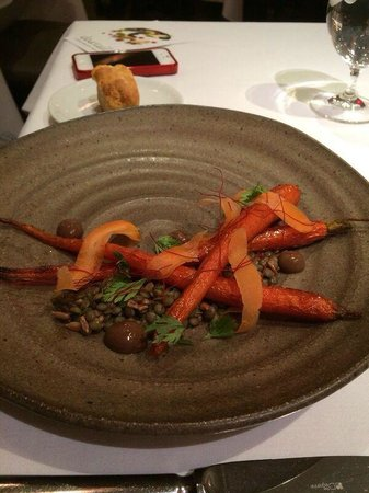Dovetail: appetizers: cured carrots