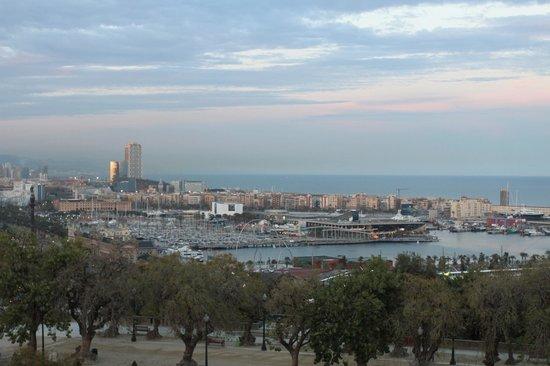 Hotel Miramar Barcelona: Fifth floor view.