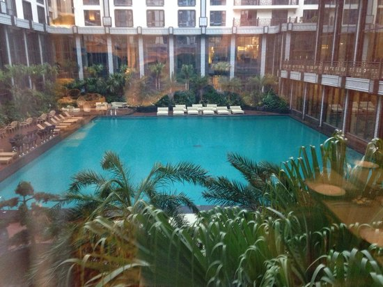 Grand Bravo Guilin: Pool view from inside the hotel.