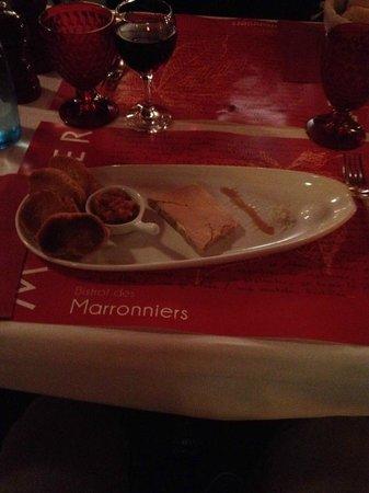 Le Bistrot des Marronniers : Foie gras vin de paille