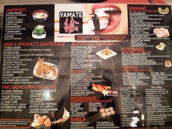 Fontanelle, Italie : menu