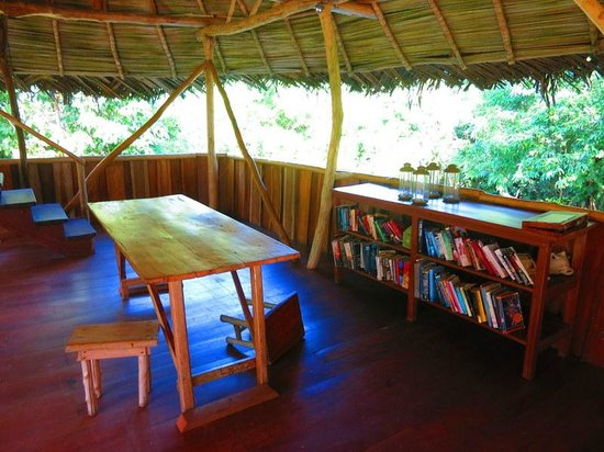 Al Natural Resort: Reading area over the dining room
