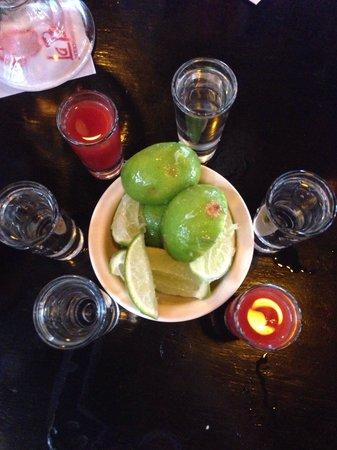 La Parrilla: Tequila shots