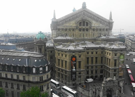 Galeries Lafayette Haussmann: La Ópera desde la terraza.