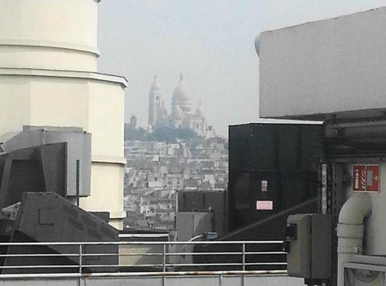 Galeries Lafayette: El Sacre Coeur desde la terraza.