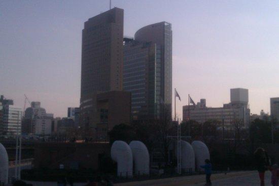 Yokohama Sakuragicho Washington Hotel: The Front orange yellow building is the Hotel