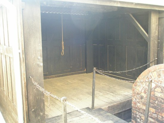 Hobart Convict Penitentiary: The Gallows at the rear of the Chapel.