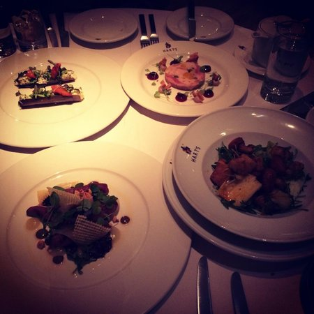 Hart's Restaurant : 4 starters for 3 people!