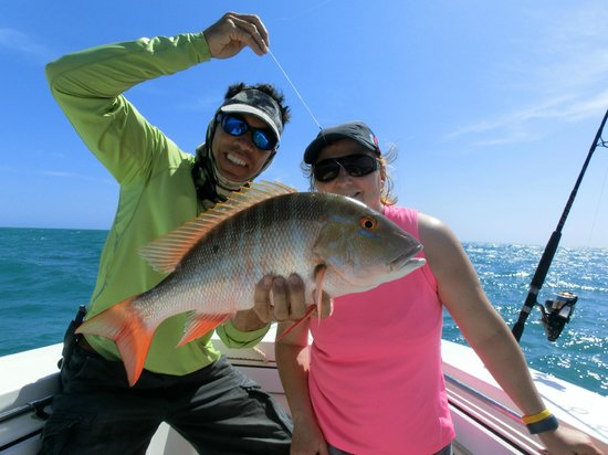 Atlantis House: Mutton Snapper - sorry, but he was ultimately lunch....