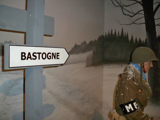 Mississippi Armed Forces Museum: An indoor display about the Battle of the Bulge