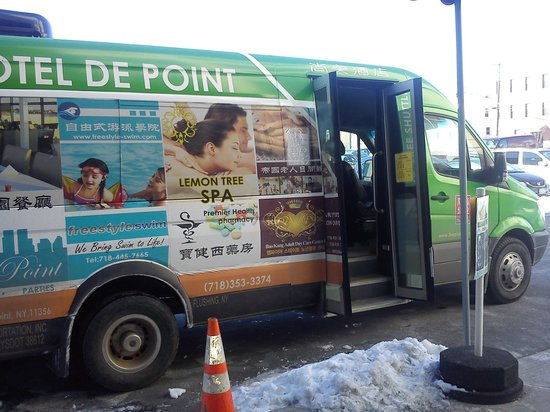 Hotel de Point : shuttle bus