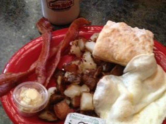 Volcano's Lava Rock Cafe: Lava Rock Cafe - Egg, Bacon, Biscuit Breakfast