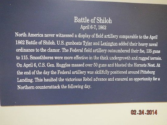 Tennessee River Museum : note on the Battle of Shiloh