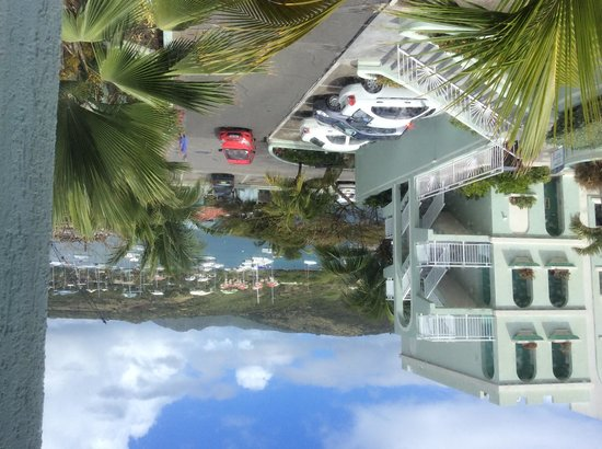 Oyster Bay Beach Resort: View of Oyster Pond from kitchen window