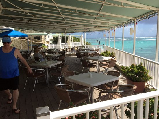 "Oyster Bay Beach Resort: Resort's ""Beau-Beau's"" restaurant by the beach"