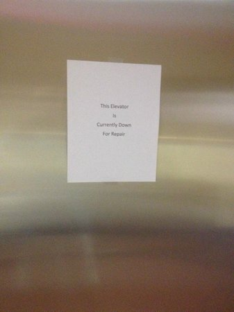 Hampton Inn Dallas - Irving - Las Colinas: Elevator out of service.