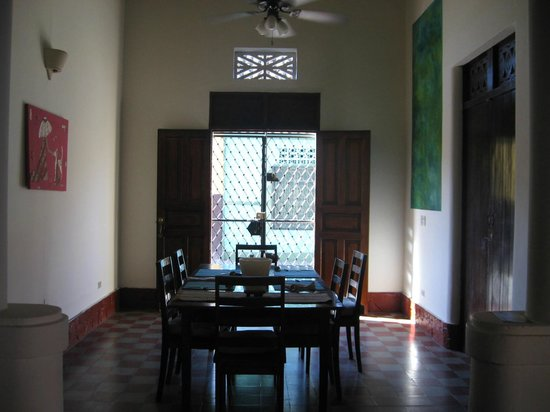 Casa Silas B & B: Dining area where breakfast is served.