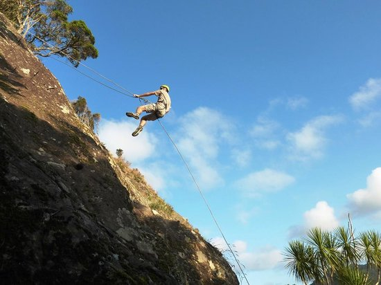 Abseiling at Jump Off A Cliff Timperley Road Whangarei Heads