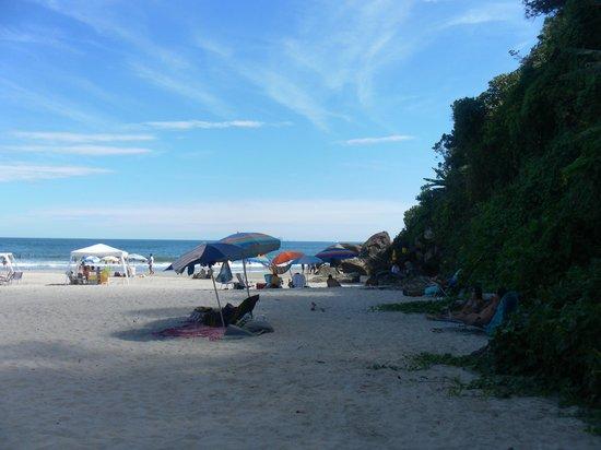 Camburizinho Beach : Canto da praia