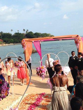 Renaissance Koh Samui Resort & Spa: Weeding beach cérémonie