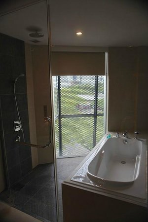 Wangz Hotel: Bathrooms have floor to ceiling windows