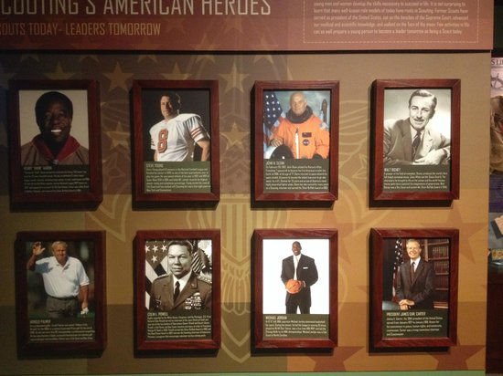 National Scouting Museum: Some famous scouts