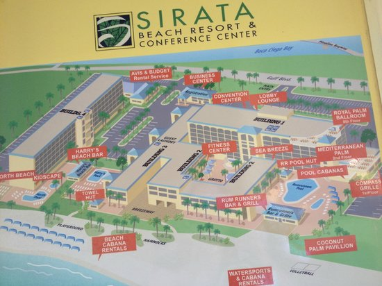 Sirata Beach Resort Grounds Map