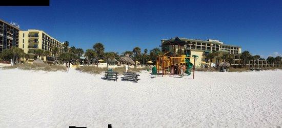 Sirata Beach Resort: Property View from the beach