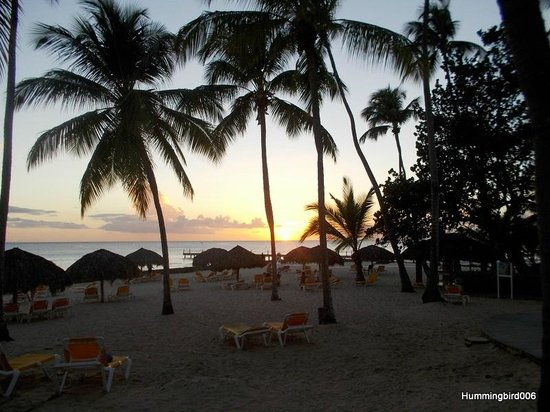 Viva Wyndham Dominicus Palace: Sunset, 20 feb 2014