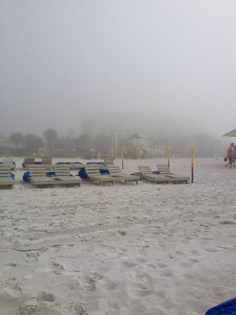 Sirata Beach Resort: Sea Fog!