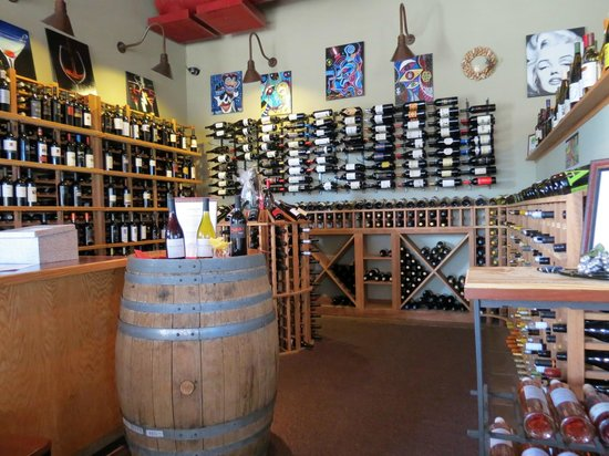 D-Vine Wine Bar and Bistro: The wine 'cellar'