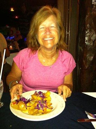 Langosteria Maya Restaurant: Yummy fish tacos!