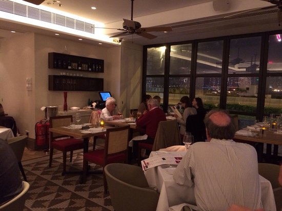 Spasso Italian Bar & Restaurant: Dining area and city view.