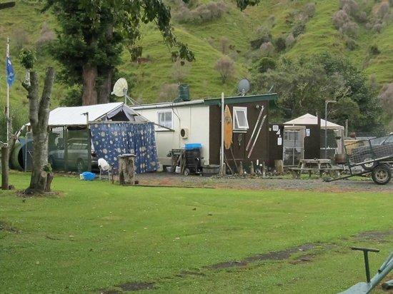 Whangamomona Campground: The funky administration block