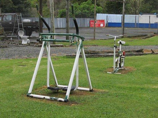 Whangamomona Campground: The outdoor gym