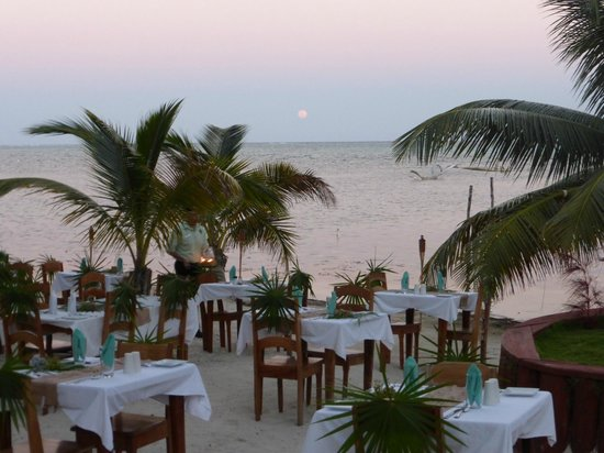 Portofino Beach Resort : Valentine's dinner on beach