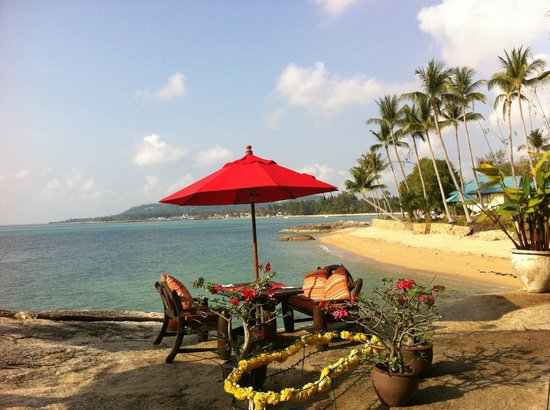 Rocky's Boutique Resort : The view at breakfast
