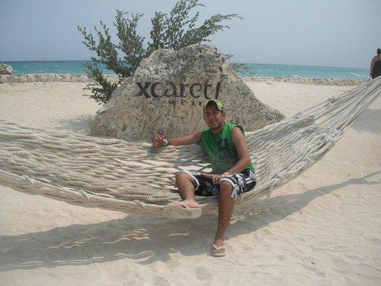 Parque Xcaret: Mi hermano, disfrutando de xcaret