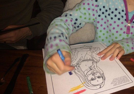 Dunraven Inn: Color by number Mona Lisa on children's menu
