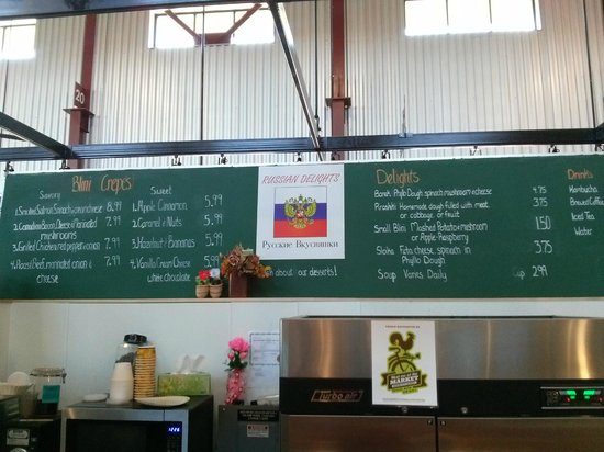 NewBo City Market: Menu board