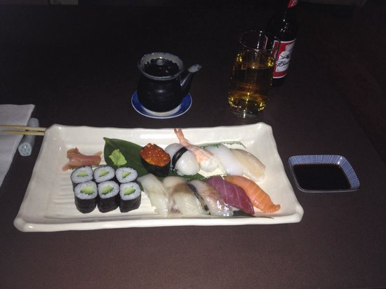 Hotel 55: Sushi meal was to die for - first proper time with chop sticks to, delightful staff and excellen