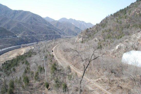 Juyong Pass of Great Wall: 旁邊的鐵路