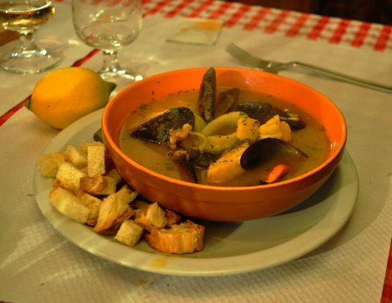 Il Mulattiere: zuppa di pesce